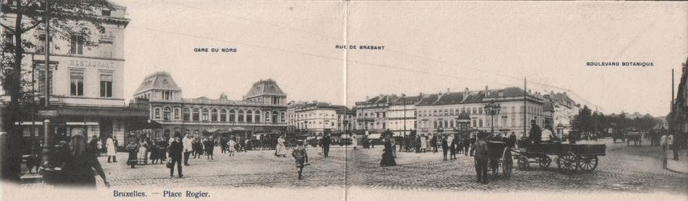 Plan large boulevard du jardin botanique place charles for Boulevard jardin botanique