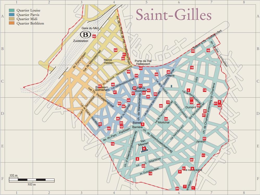 Localisation de 'Saint-Gilles' sur 8 plans de Bruxelles on world map, helsinki map, cairo map, bern map, vienna on map, sofia bulgaria map, antwerp map, europe map, prague map, ghent map, bastogne map, belgium map, rhine river map, bucharest map, istanbul map, bruges map, amsterdam map, danube river map, warsaw map, thames river map,