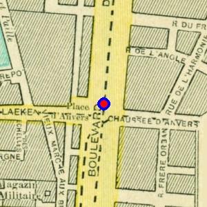 Localisation de 39 porte d 39 anvers 39 sur 14 plans de bruxelles - Port d anvers belgique adresse ...