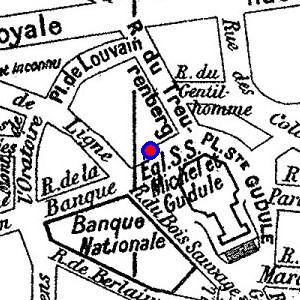 Localisation de rue du bois sauvage n 176 15 sur 12 plans de bruxelles